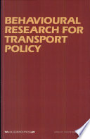 illustration du livre Behavioural Research for Transport Policy