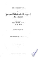 Proceedings of the National Wholesale Druggists Association