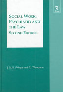 Social Work  Psychiatry and the Law