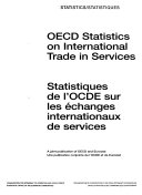 OECD Statistics on International Trade in Services 1992 2001