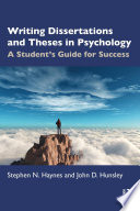 Writing Dissertations And Theses In Psychology