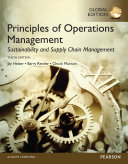 Principles of Operations Management  Sustainability and Supply Chain Management  Global Edition
