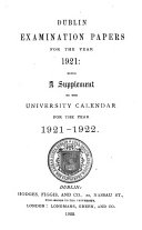 Examination Papers  for the Years  1908 1922