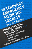 Veterinary Emergency Medicine Secrets : basis, and the increasing importance of emergency medicine...