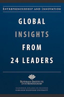 Entrepreneurship and Innovation  Global Insights from 24 Leaders