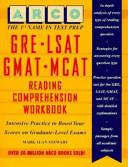 GRE LSAT GMAT MCAT Reading Comprehension Workbook