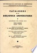 Catálogos de la Biblioteca Universitaria