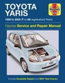 Toyota Yaris Owner S Workshop Manual