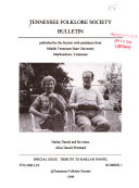 Tennessee Folklore Society Bulletin