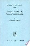 Südtirols Verwaltung 1975