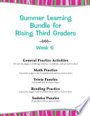 Summer Learning Bundle for Rising Third Graders   Week 6