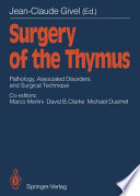 Surgery Of The Thymus book