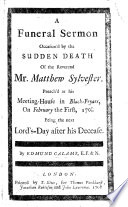 Stiahnuť PDF A Funeral Sermon, occasion'd by the sudden death of the