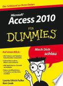 Access 2010 f  r Dummies