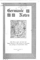 Germanic Notes