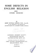 Some Defects in English Religion