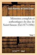 Mémoires, tome VII