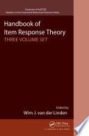 Handbook of Item Response Theory  Three Volume Set