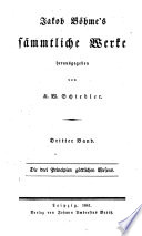 Jakob Bohme s Sammtliche werke