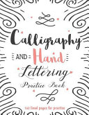Calligraphy   Hand Lettering Practice Book