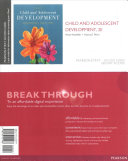 Child and Adolescent Development  Enhanced Pearson Etext    Access Card