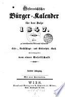 Oesterreichischer Bürger-Kalender