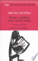 Poesia e pubblico nella Grecia antica