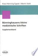 Bönninghausens kleine medizinische Schriften
