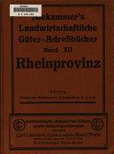 Niekammer's Landwirtschaftliche Guter-Adressbucher
