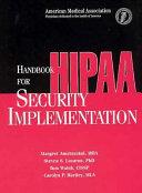 Handbook for HIPAA Security Implementation