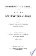 Magyar diplomacziai emlékek Mátyás király korából 1458-1490