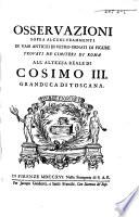 Osservazioni sopra alcuni frammenti di vasi antichi di vetro ornati di figure trovati ne' cimiteri di Roma
