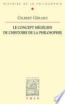 illustration Le concept hégélien de l'histoire de la philosophie
