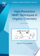 High Resolution Nmr Techniques In Organic Chemistry