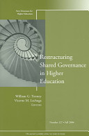 Restructuring Shared Governance in Higher Education