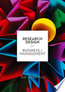 Research Design for Business   Management