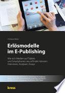 Erl  smodelle im E Publishing