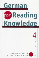 German For Reading Knowledge : graduate students need to read authentic...