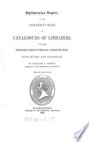 On the construction of catalogues of libraries and their publication by means of separate  stereotyped titles  with rules and examples