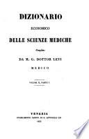 Dizionario Economico delle Scienze Mediche