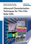 Advanced Characterization Techniques for Thin Film Solar Cells