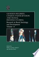 Gender Regimes  Citizen Participation and Rural Restructuring