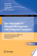 Geo Informatics in Resource Management and Sustainable Ecosystem