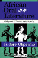 African Oral Literature Coupled With Sensitve And Insightful