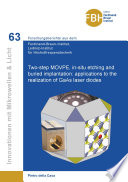 Two Step Movpe In Situ Etching And Buried Implantation Applications To The Realization Of Gaas Laser Diodes