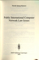Public International Computer Network Law Issues