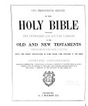 The Pronouncing Edition of the Holy Bible