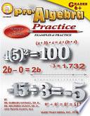 Pre Algebra Practice Book  Grades 6   8
