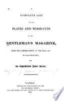 A Complete List of the Plates and Wood cuts in Gentleman s Magazine Book PDF