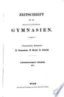 Zeitschrift für die österreichischen Gymnasien